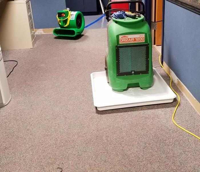 SERVPRO Equipment helping return rug to pre-disaster conditions