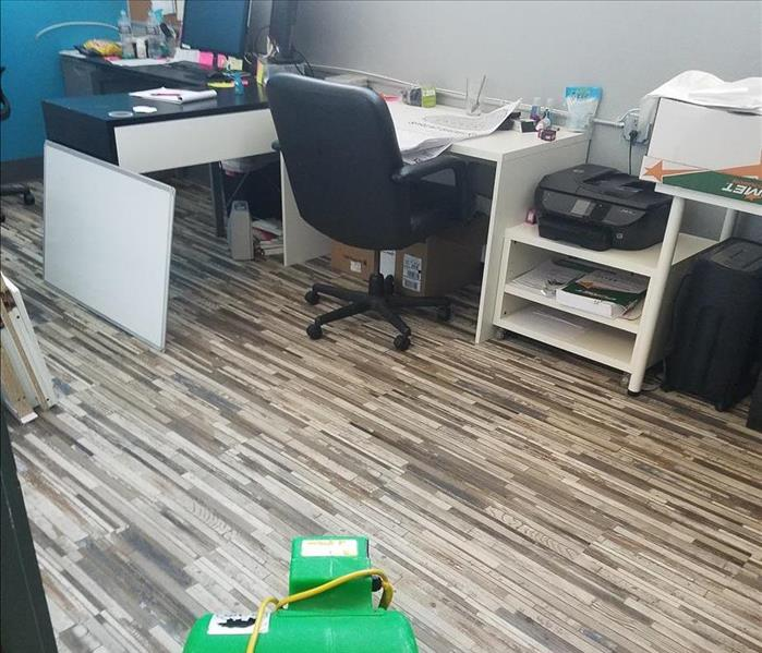 Clean and refurbished commercial floor