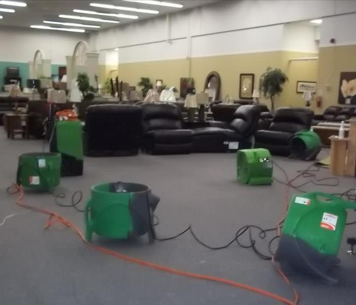 SERVPRO Equipment in a commercial retailer